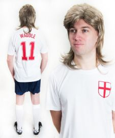 Chris Waddle England Funny Football Fancy Dress Costume